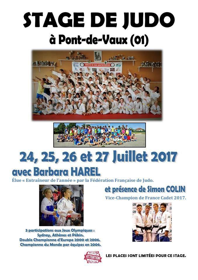 Barbara Harel revient animer un stage de judo fin juillet.