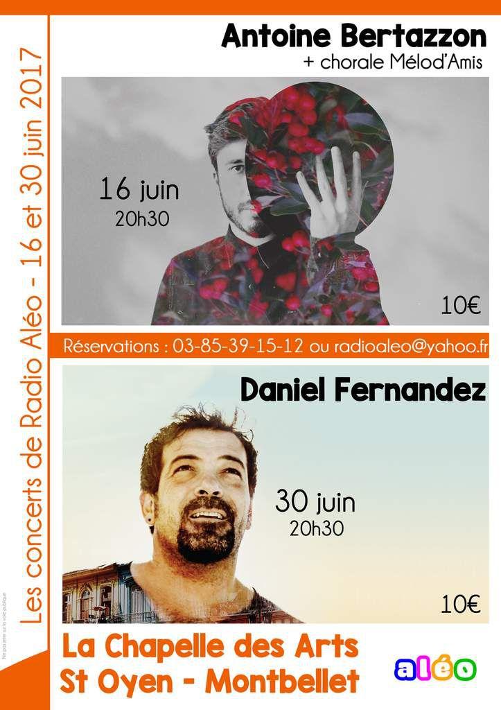 Un concert ce soir à la Chapelle des arts à Saint-Oyen.