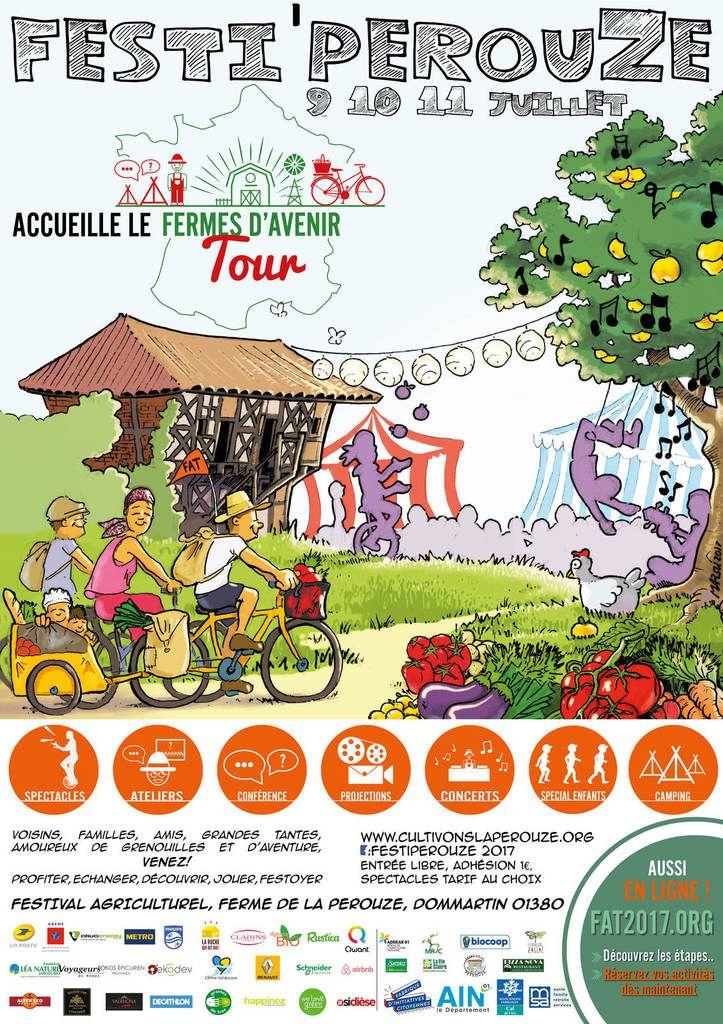 Festival agriculturel à la ferme de la Pérouze à Dommartin les 10, 11 et 12 juillet.