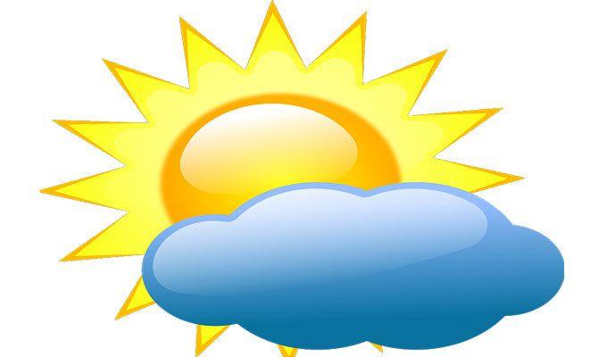 La météo pour cinq jours dans la région de Pont-de-Vaux.