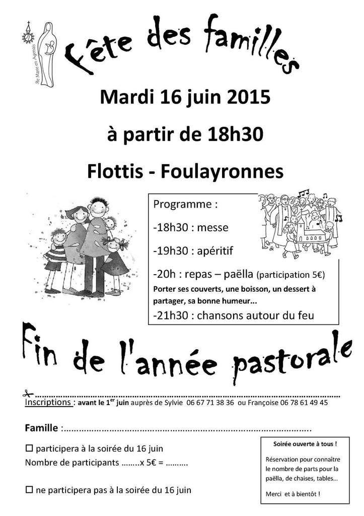 FETE DES FAMILLES 16/6/2015