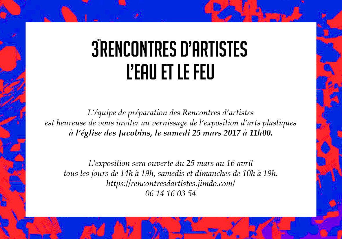 3 EMES RENCONTRES D'ARTISTES (carton d'invitation)