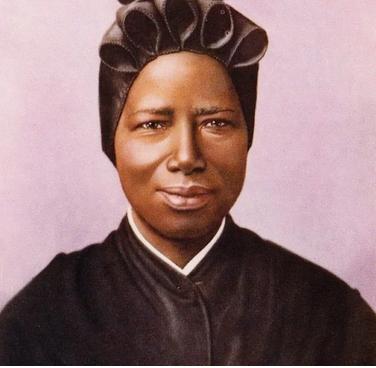Portrait de sainte Joséphine Bakhita, de la congrégation des sœurs de la Charité. - CPP-Ciric