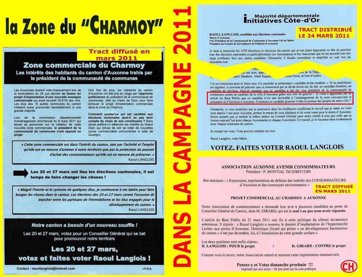 La zone du Charmoy dans la campagne 2011
