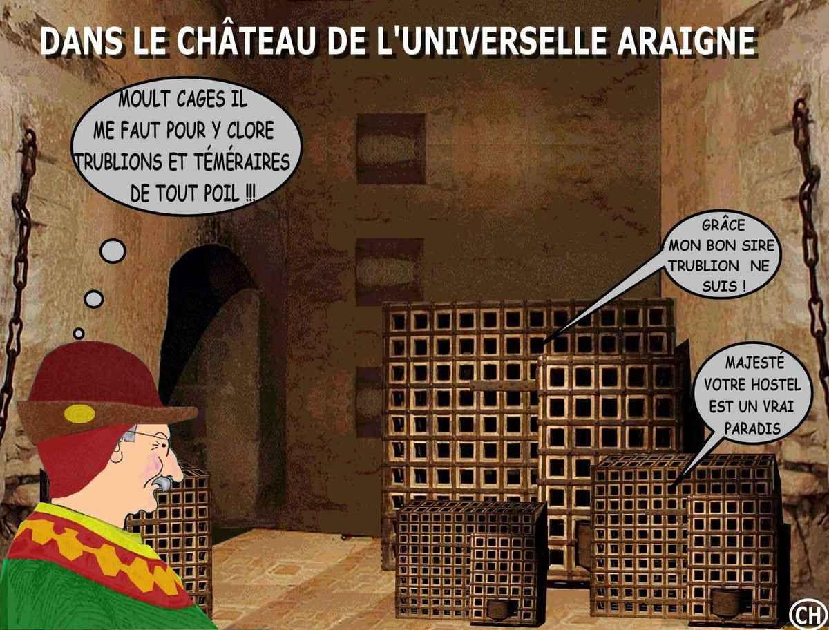 Château Louis XI : des cages pour les trublions