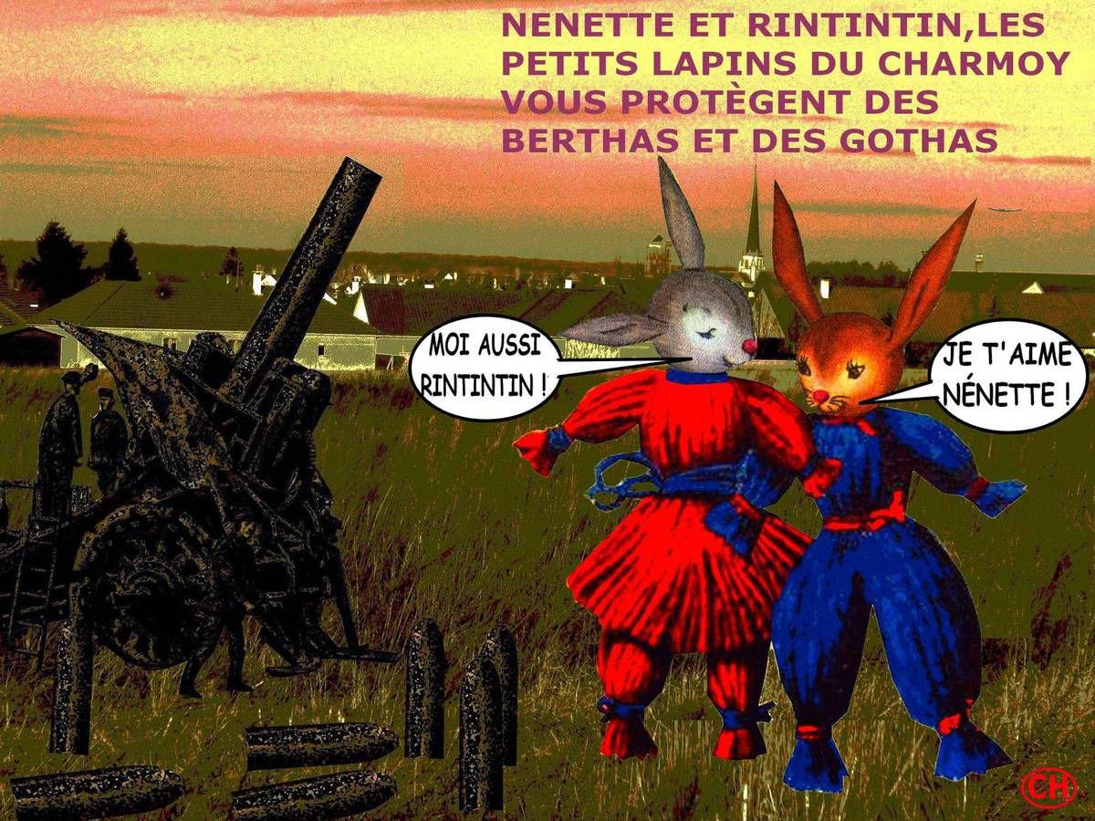 Nénette et Rintintin vous protègent des Bertha au Charmoy
