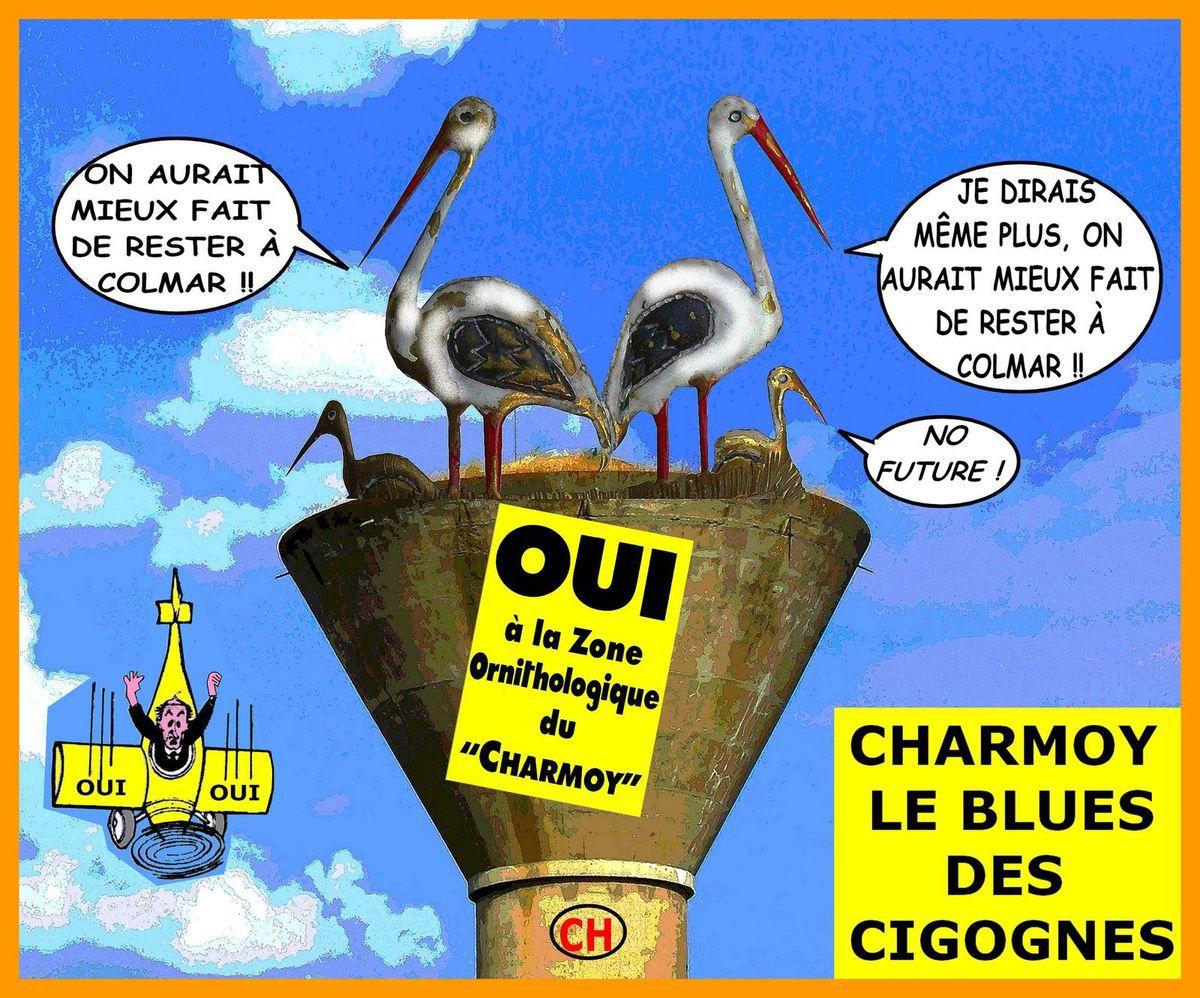 Charmoy-City, le blues des cigognes