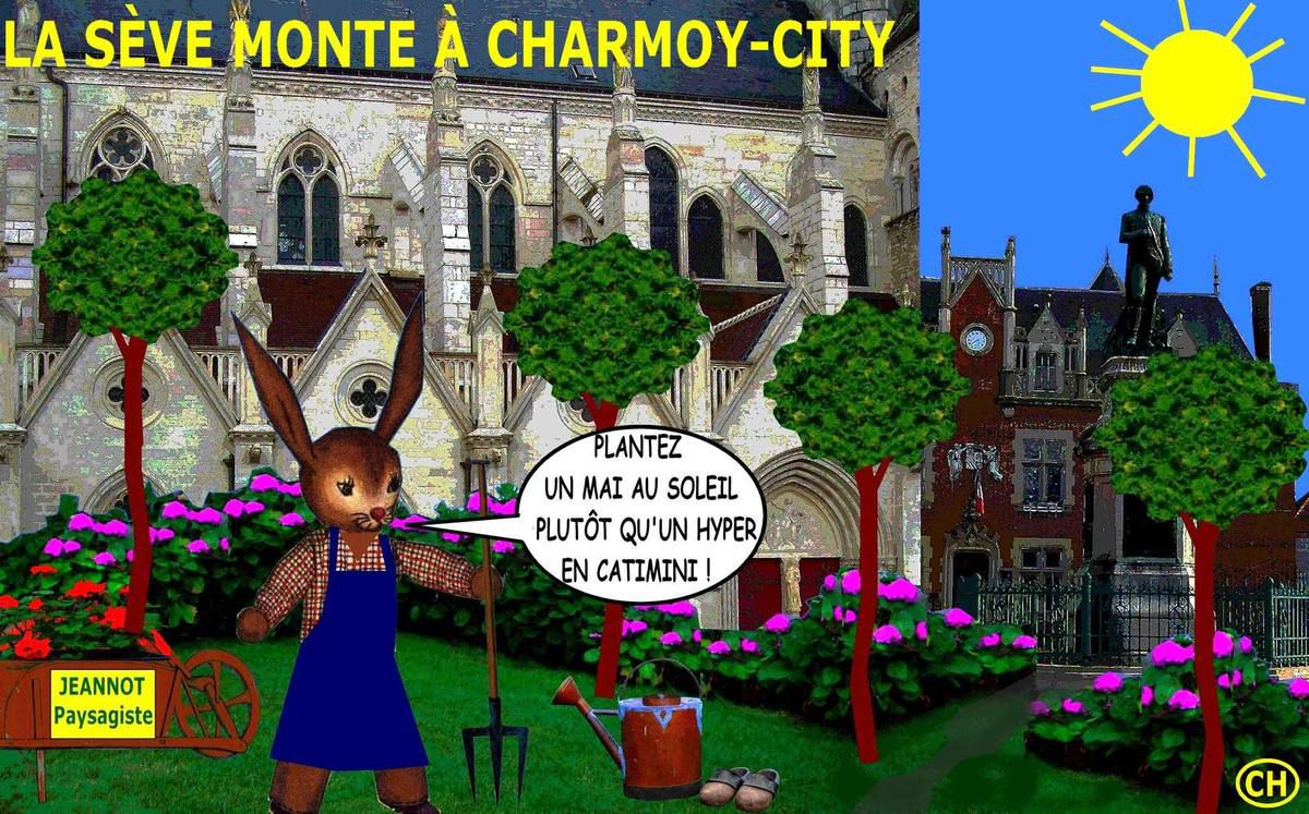 La sève monte en mai à Charmoy-city