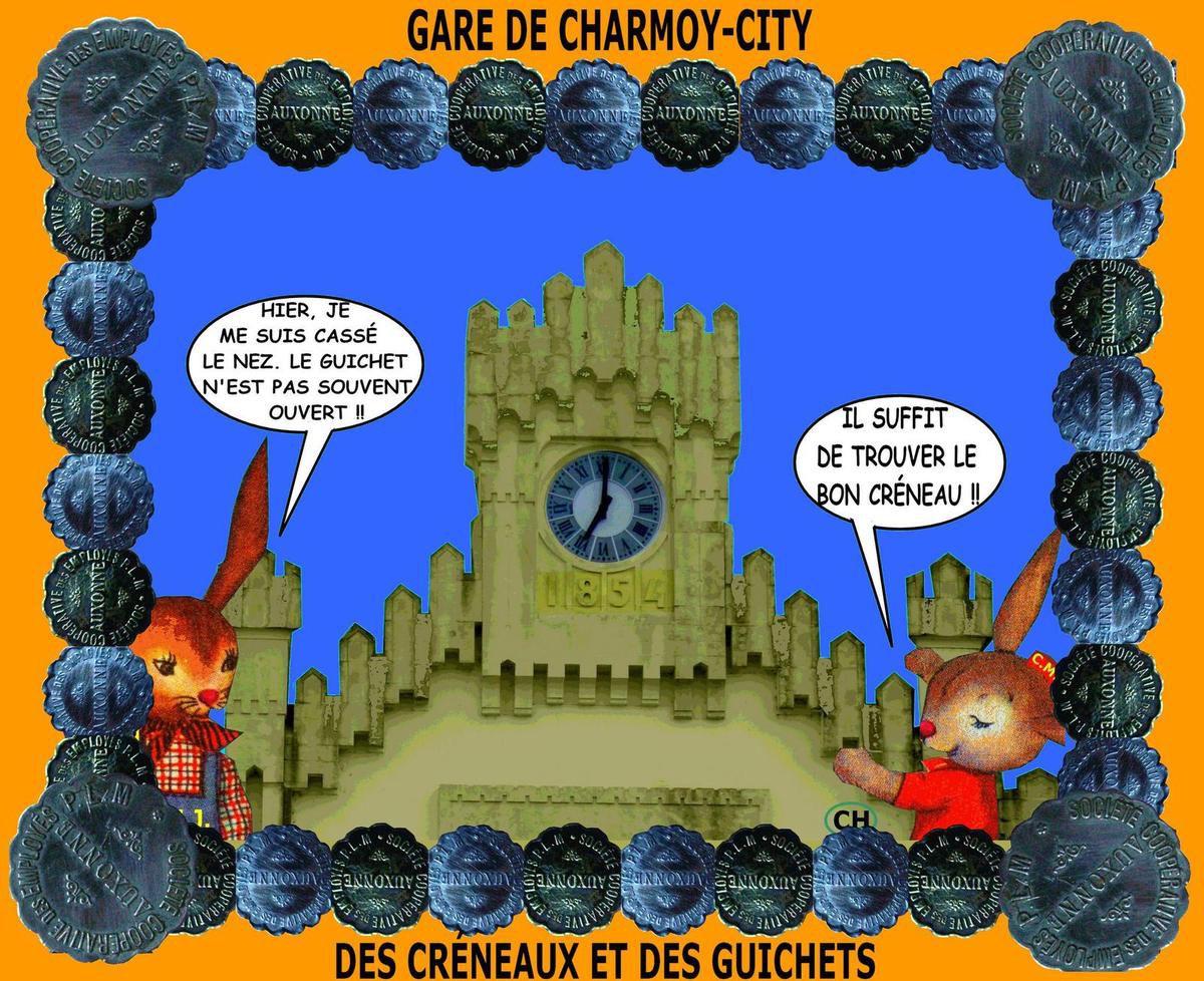 Gare de Charmoy-City,  des créneaux et des guichets