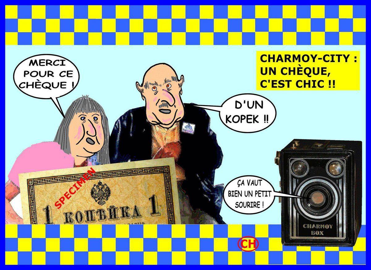 Charmoy-City, un chèque c'est chic