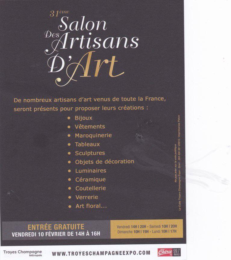 SALON ARTISANAT D'ART-TROYES