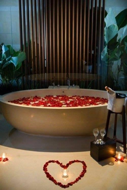 bain romantique, Saint Valentin
