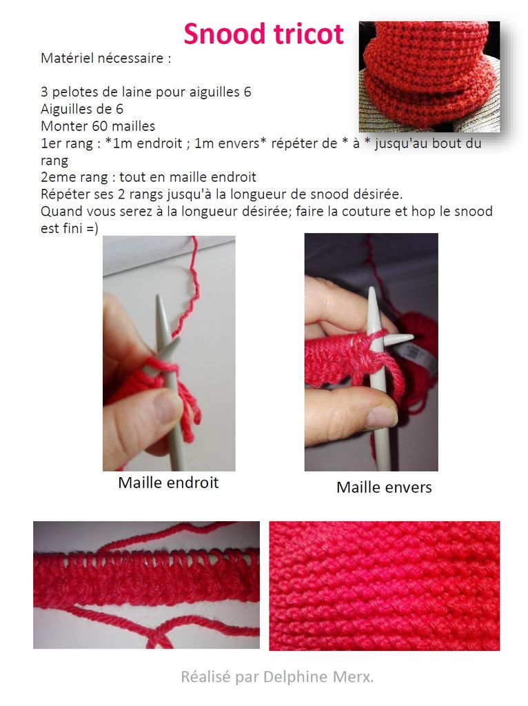 snood tricot