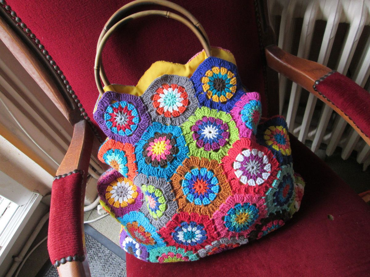 Sac &quot&#x3B;hexagones au crochet&quot&#x3B;