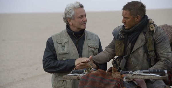 George Miller et Tom Hardy - Photo de tournage Mad Max: Fury Road © Warner Bros Pictures