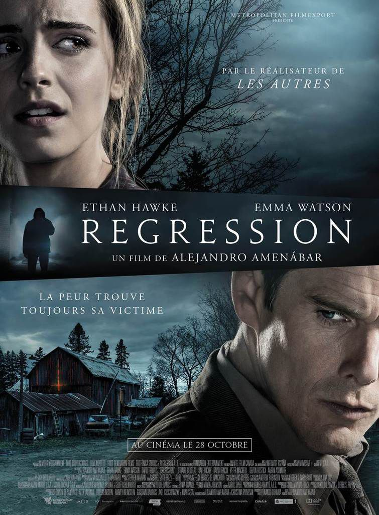 REGRESSION avec Ethan Hawke et Emma Watson, nouveau thriller de Alejandro Amenábar - le 28 Octobre au Cinéma