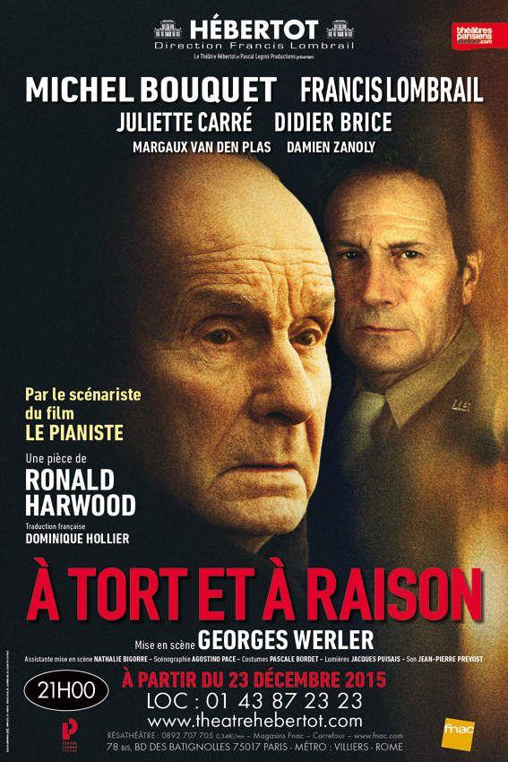 Michel Bouquet revient dans A Tort Et A Raison dès le 23 Décembre au Théâtre Hébertot