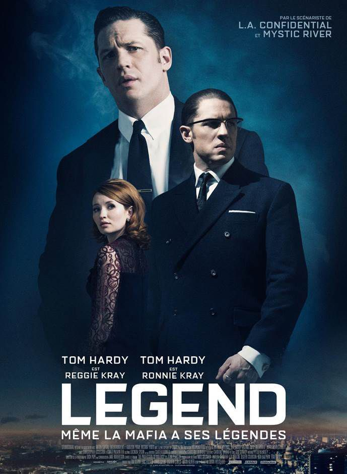 LEGEND, Tom Hardy plonge dans le Londres des années 60 et incarne un double-rôle : les impitoyables jumeaux Kray ! - au Cinéma le 20 Janvier 2016