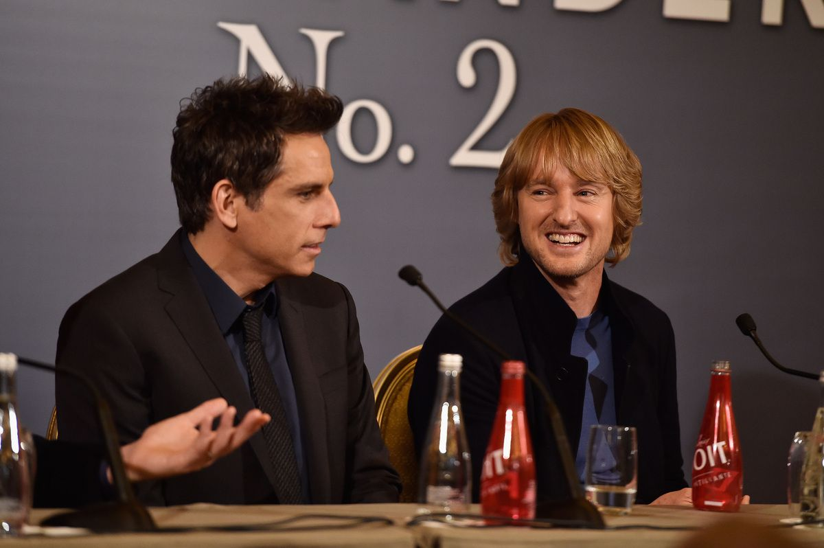 "Ferrell,Ben Stiller and Owen Wilson attend the Press Conference ahead of the Paris Fan Screening of the Paramount Pictures film ""Zoolander No. 2"" at Hotel Plaza Athenee on January 29, 2016 in Paris, France. (Photo by Pascal Le Segretain/Getty Images For Paramount)"