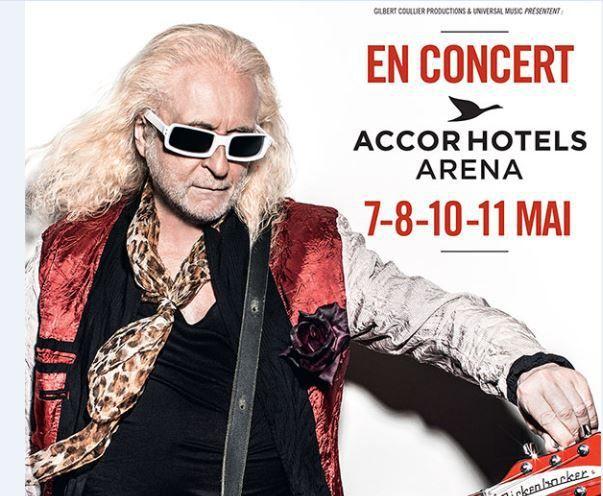 Michel Polnareff en Concert les 7-8-10 &amp&#x3B; 11 mai 2016 à l'Accorhotels Arena Paris - et en tournée