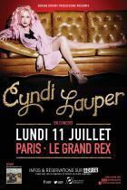 Cyndi Lauper en concert au Grand Rex lundi 11 juillet 2016 !