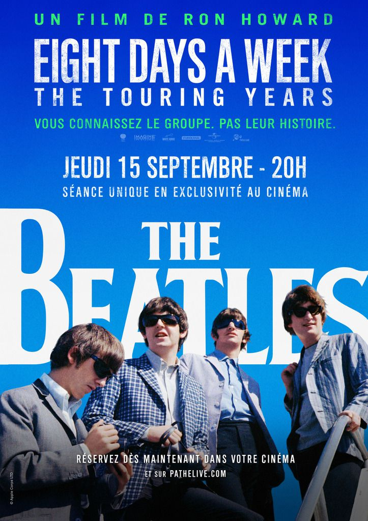 THE BEATLES un documentaire de Ron Howard au Ciné en séance unique le 15 Septembre 2016 à 20h