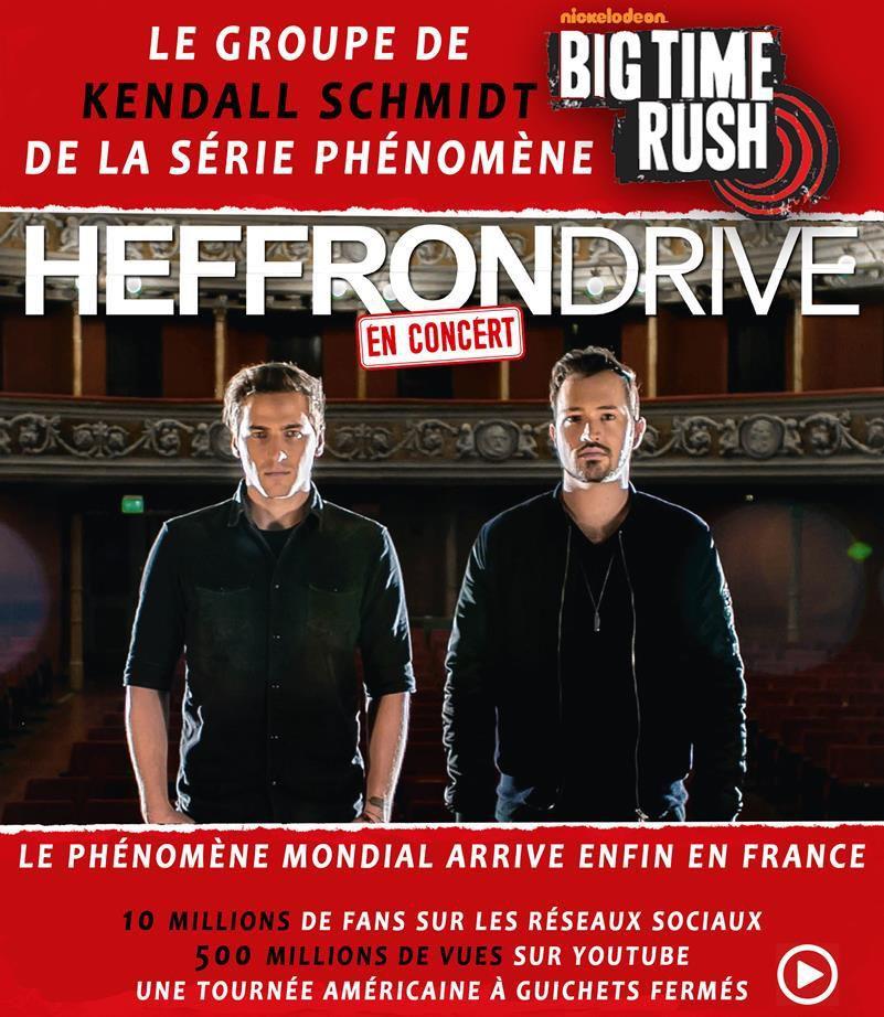 HEFFRON DRIVE - Le phénomène mondial arrive en France pour 4 concerts ! avec Kendall Schmidt de &quot&#x3B;Big Time Rush&quot&#x3B;