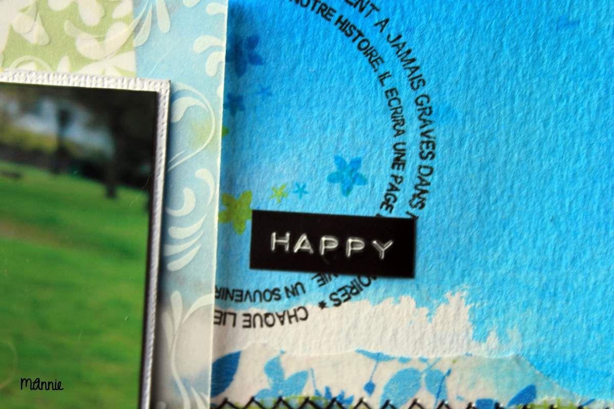 mot happy écrit à la Dymo.