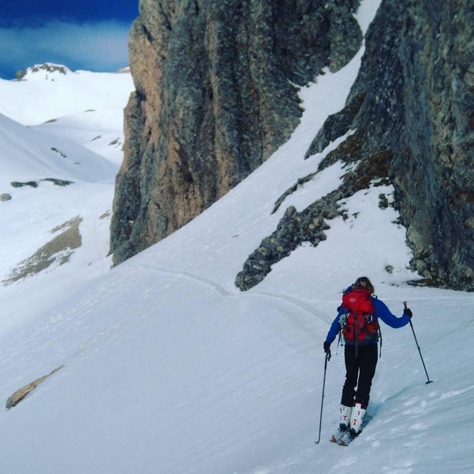 Passage sous la tête d'Oriol. Ambiance alpine