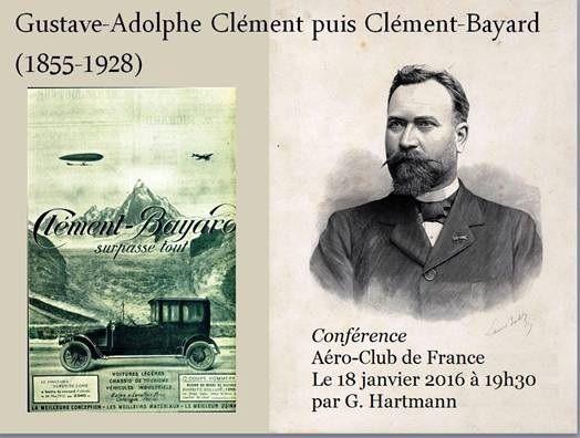 Conférence CLEMENT-BAYARD le 18 janvier 2016