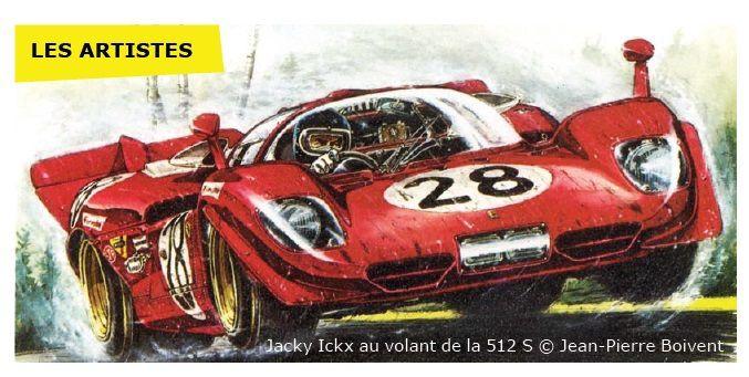 Jacky Ickx au volant de la 512 S © Jean Pierre Boivent