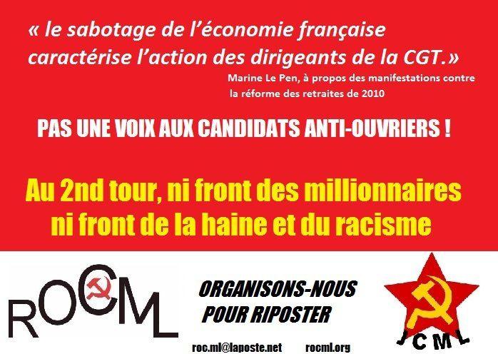 #sansmoile7mai Pourquoi Marine Le Pen et le FN se moquent des ouvriers
