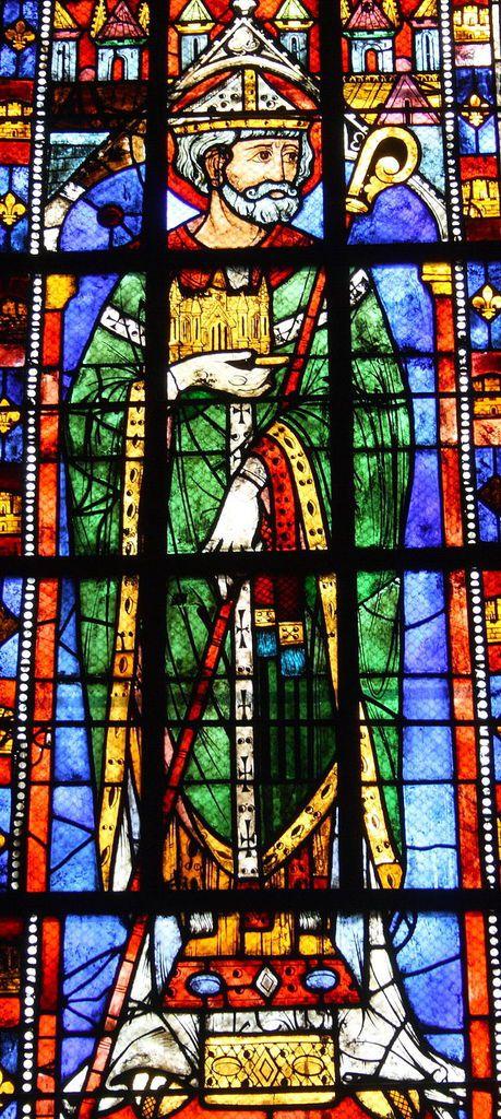 Saint Éloi - Vitrail église Sainte-Anne de Gassicourt, à Mantes-la-Jolie