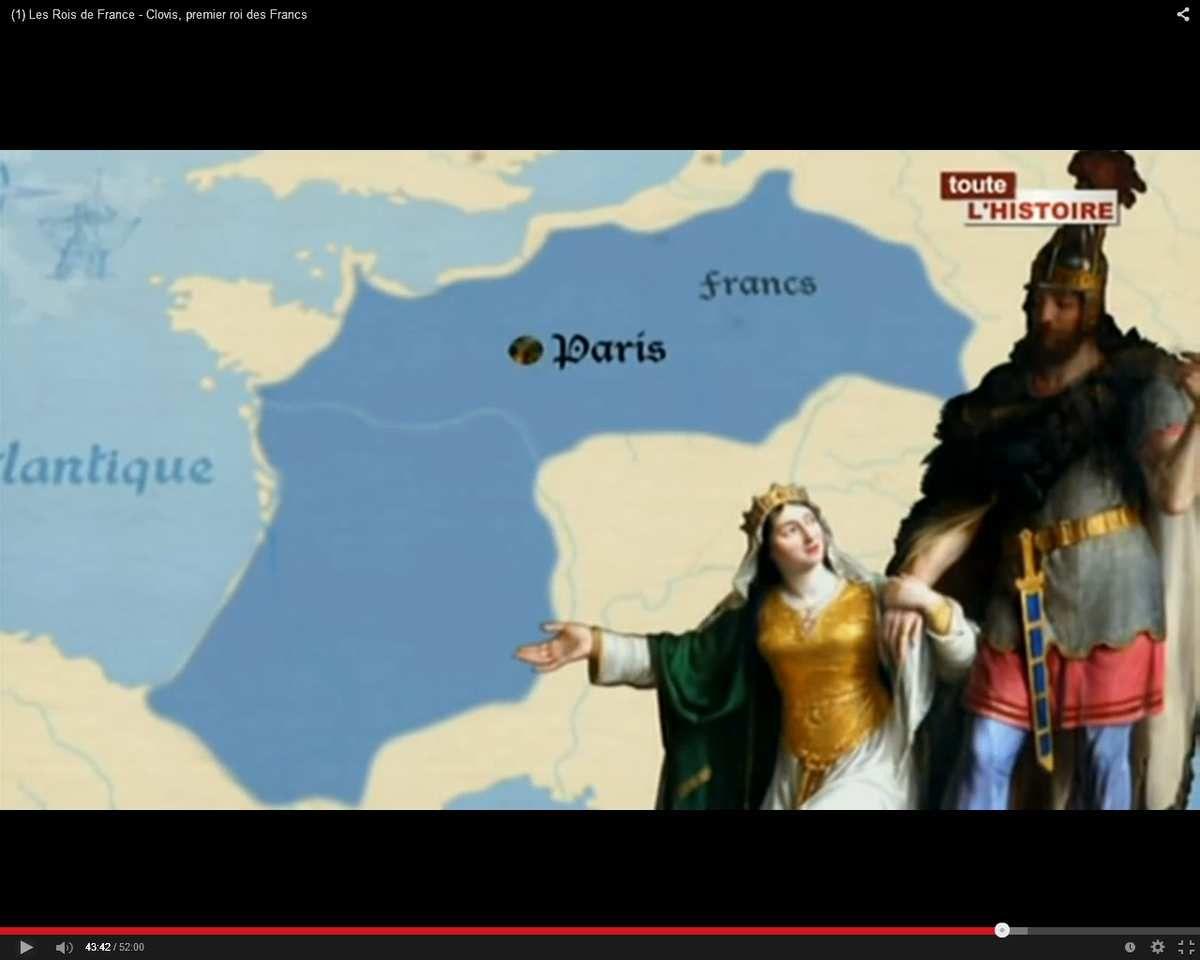 En 511, la France est composée essentiellement des territoires au nord de la Loire, d'une annexion récente en Aquitaine, de l'Auvergne et de quelques petites possessions dans la région Provence Alpes