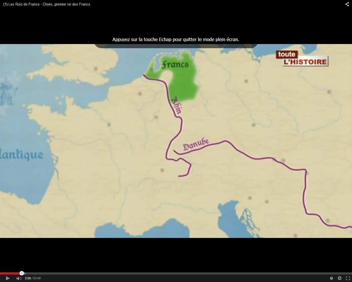 Territoire des Francs vers 256-260