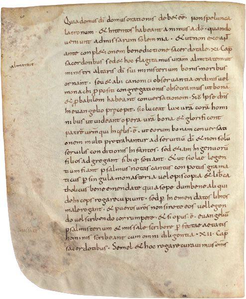 Folio 50 de l'Admonitio generalis de 789