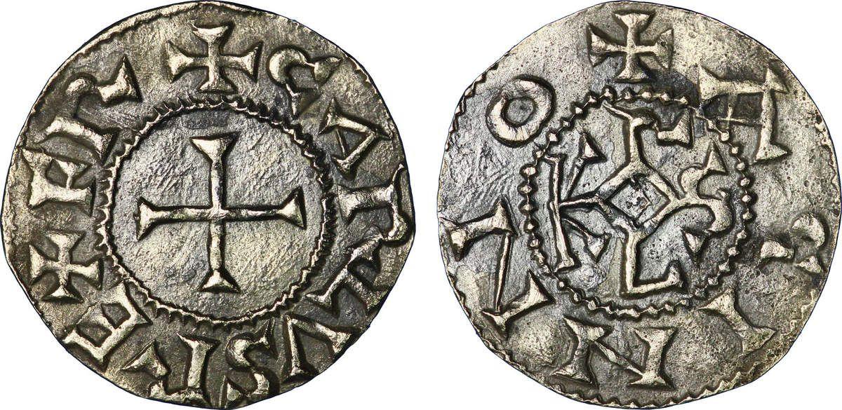 Denier argent de Charlemagne