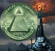 """Tour de Sauron, allégorie du """"Novus Ordo Seclorum"""" (Nouvel Ordre mondial) dans le """"Seigneur des Anneaux"""" (J.R.R. Tolkien)"""