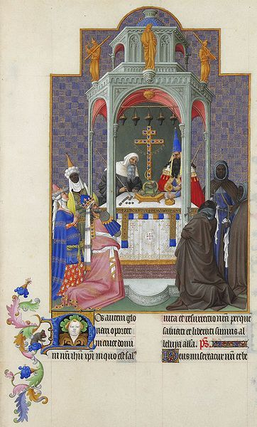Les Très Riches Heures du duc de Berry, Folio 193r - The Exaltation of the Cross the Musée Condé, Chantilly.