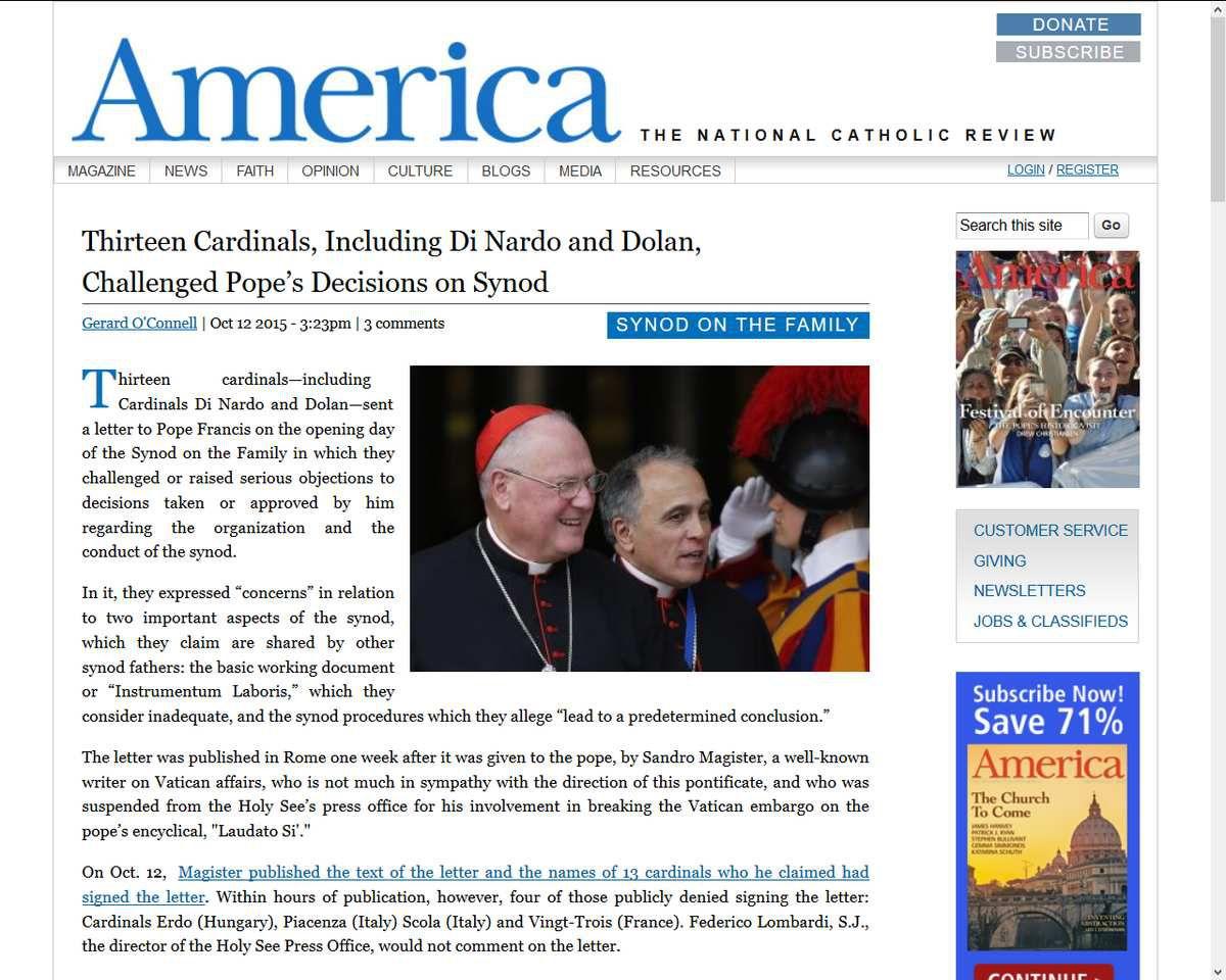 Synode : Treize cardinaux écrivent au Pape qui leur répond de &quot&#x3B;ne pas céder à l'herméneutique de la conspiration&quot&#x3B;. Laquelle ?