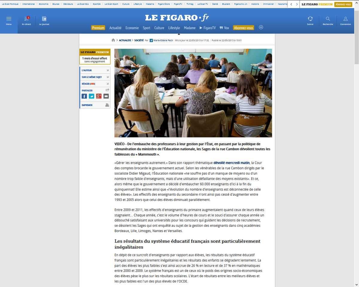 Progression de l'illettrisme : la Cour des comptes brocarde la gestion de l'&quot&#x3B;Education nationale&quot&#x3B; par le gouvernement socialiste actuel