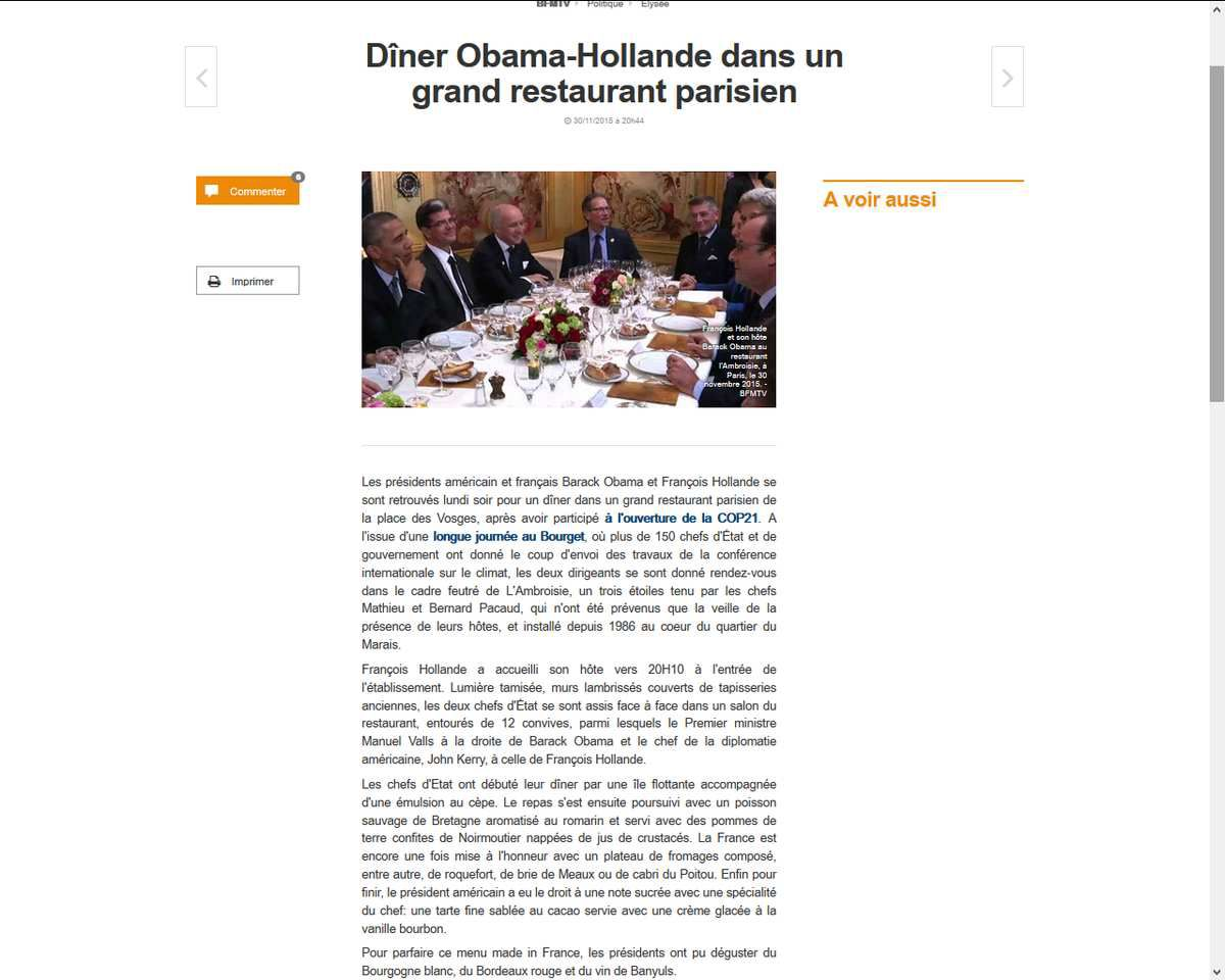 Source: http://www.bfmtv.com/politique/diner-obama-hollande-dans-un-grand-restaurant-parisien-933142.html