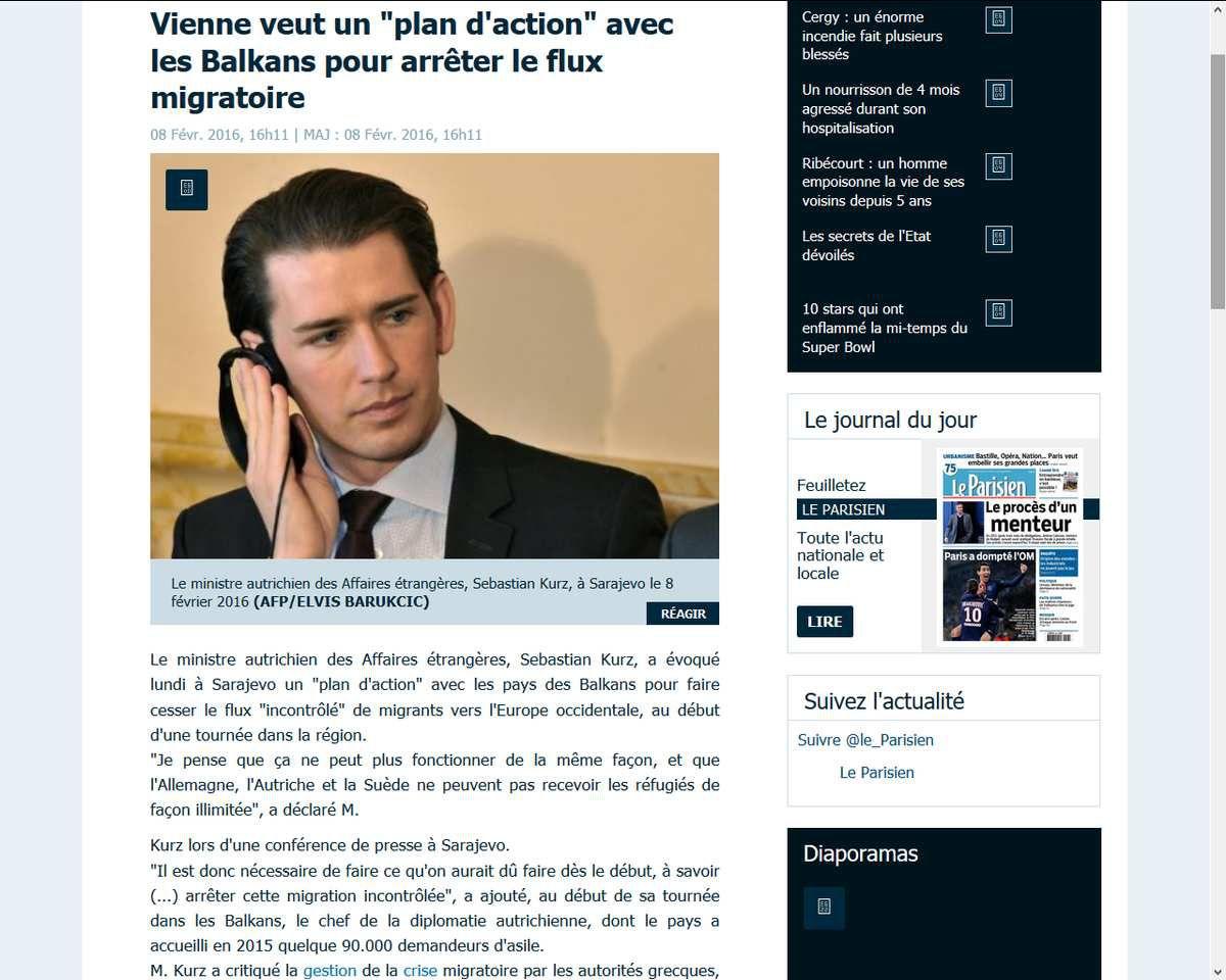 &quot&#x3B;Plan d'action&quot&#x3B; anti-migrants : l'Autriche veut &quot&#x3B;arrêter cette migration incontrôlée&quot&#x3B;