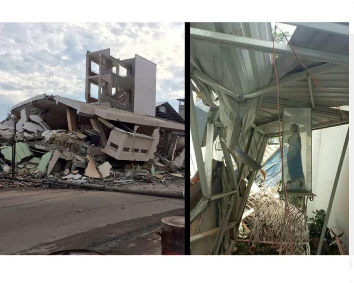 La Madone plus forte que le séisme en Équateur le 16 avril