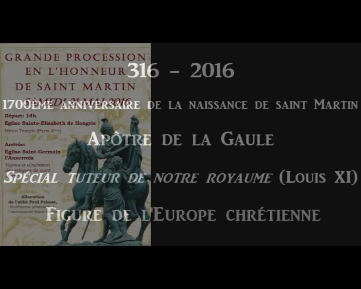 1700e anniversaire de la naissance de Saint Martin de Tours - Grande procession à Paris