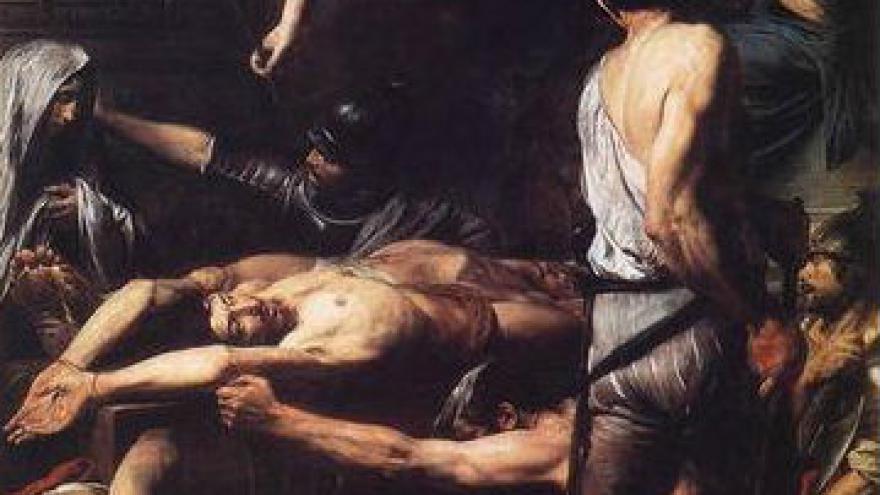 Martyre de Saint Procès et Saint Martinien, 1629, par Valentin de Boulogne (Pinacothèque, Musée du Vatican)