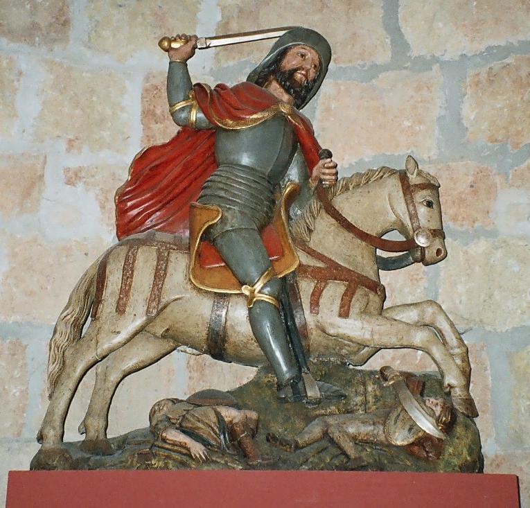 Saint Jacques en matamore. Musée de Carrión de los Condes, sur le Camino francés