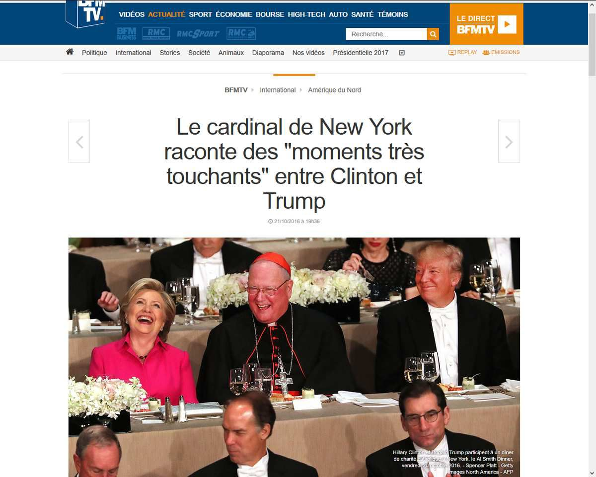 Trump blague avec Clinton