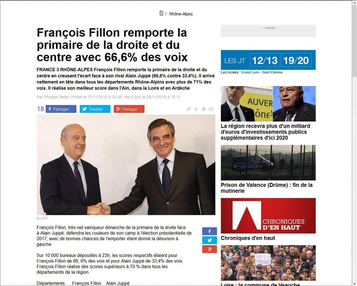 François Fillon 66,6 : une élection signée?