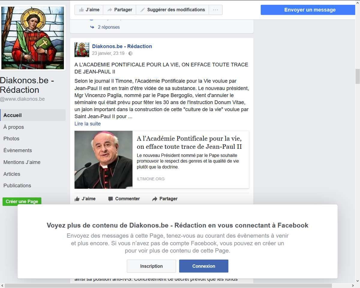 Suppression de &quot&#x3B;toute trace&quot&#x3B; de Jean-Paul II à l'Académie pontificale pour la vie